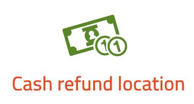 Cash refund location