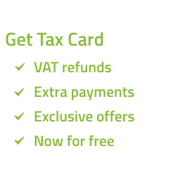 Tax Card for VAT refunds